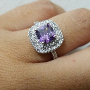 Jewelry - Sterling Silver Purple CZ Ring